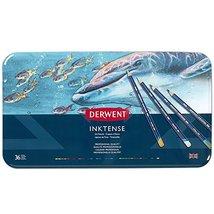 Derwent Colored Pencils, Inktense Ink Pencils, Drawing, Art, Metal Tin, ... - $54.62