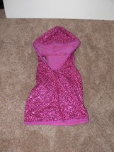 Weissman Dance Costume Sequin Fuschia Sleeveless Jacket Child Size IC (7-8) jw - $12.50