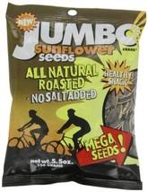 JUMBO SUNFLOWER SEEDS Sunflower Seeds, Mega No Salt, 5.5-Ounce Pack of 12