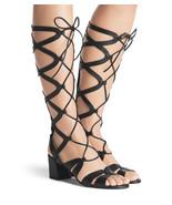 Stuart Weitzman Grecian Tall Gladiator Sandals Tall Shoes Slingback 8 - $176.76