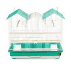 Prevue Hendryx SP1804TR-2 Triple Roof Bird Cage, Teal and White - $59.95
