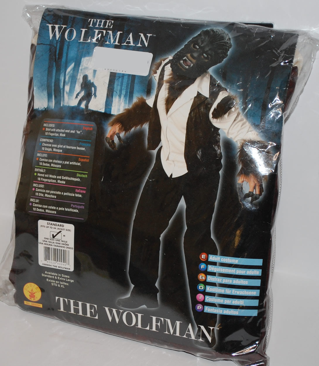 Adult Wolfman Deluxe Costume and Mask Halloween Costume Free Shipping