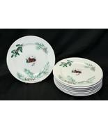 """Farberware White Christmas 2118 Dinner Plates 10.5"""" Lot of 8 - $9.79"""