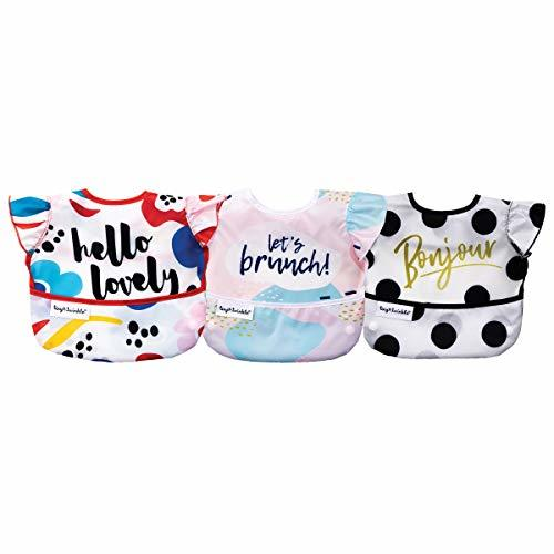 Tiny Twinkle Mess-Proof Easy Bib 3 Pack (Girl)