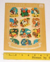 Vintage Meyercord Decals 930-A Mexican/Mexicali Sombrero Donkey Cactus - $10.00