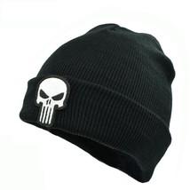 Knitted Hat Adult The Punisher Cool Black Skulls Winter Warm Beanie Men ... - $8.10
