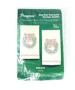 Progress Pair Stamped Kitchen Towels Cross Stitch Embroidery Kit 674 98 ... - $29.69
