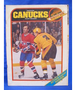NHL Vancouver Canucks Hockey Magazine Vintage Collector 1980 81 Larry Ro... - $9.95
