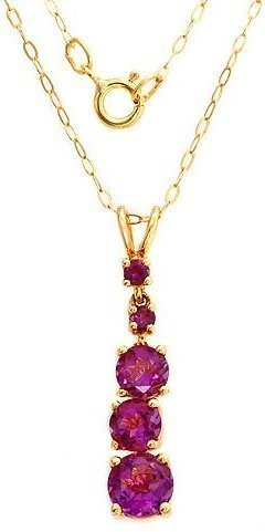 AMETHYST 14K YELLOW GOLD NECKLACE