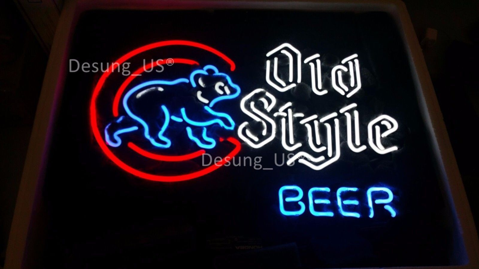 """New Old Style Beer Chicago Cubs Baseball Neon Light Sign 24""""x20"""""""