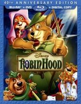 Disney's  Robin Hood (Blu-ray/DVD, 2013, 2-Disc Set, 40th Anniversary Edition)