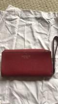 NWT Kate Spade Mikas Pond Layton Red Leather Large Wristlet Wallet $ 248 - $83.94