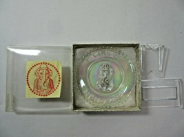 Summit Art Glass Vogelsong Carnival Circus Memories Elephant Mini Plate ... - $18.69