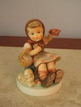Goebel Hummel Farewell 65 - Girl Waving Goodbye w/ Lamb Figurine TMK 7 - - $118.79