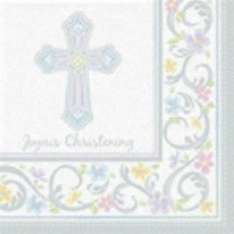 Blessed Day 36 Joyous Christening Luncheon Value Pack Napkins - $8.35
