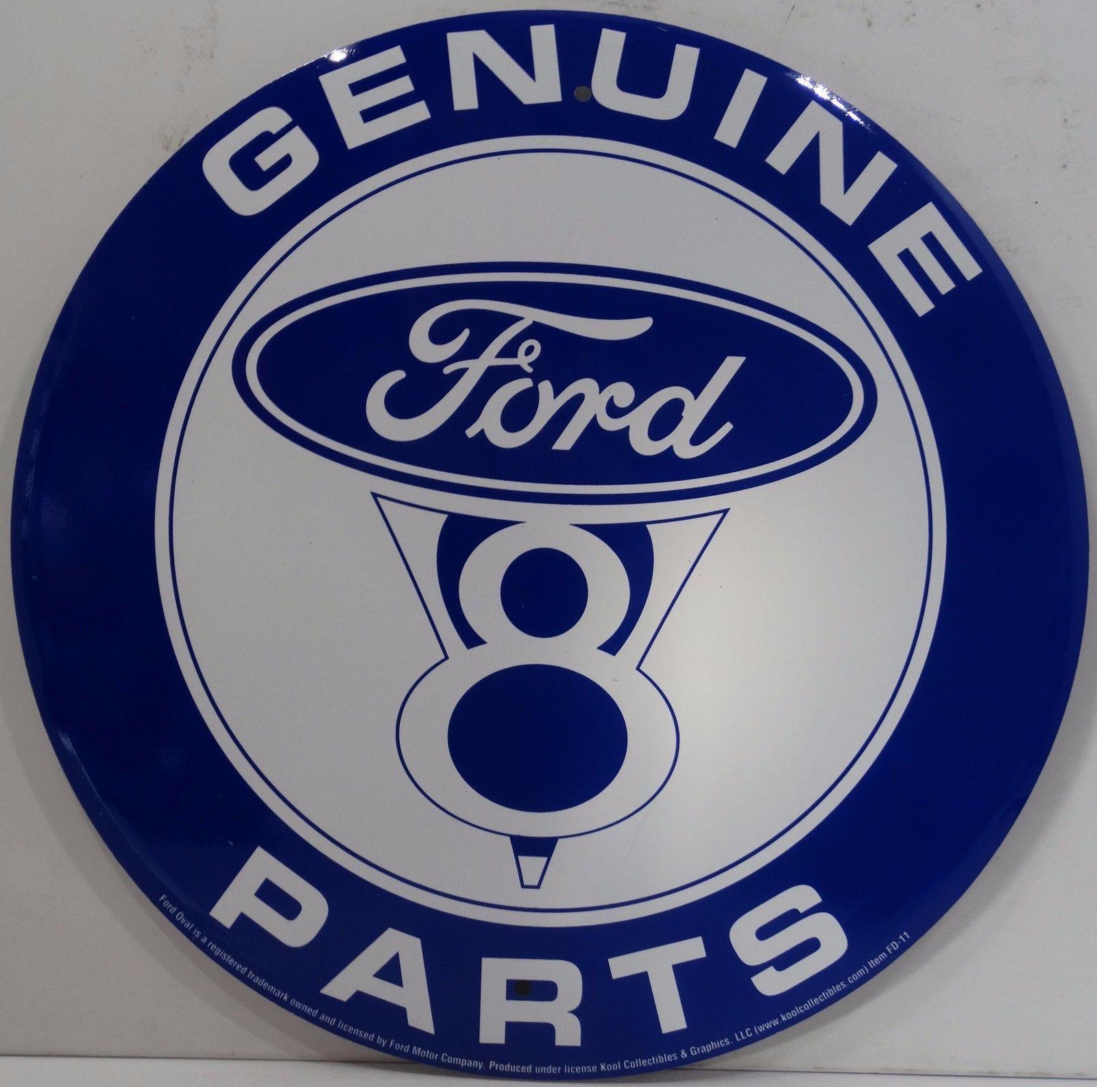 "Genuine Chevrolet Parts Embossed Metal 12/"" Circle Sign"