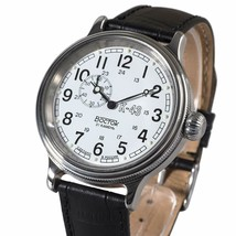 Vostok Retro Kirovskie K43 540932 Russian Classic Mens Watch White WWII 24 Hours - $108.89