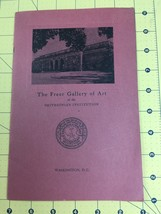 The Freer Gallery of Art 1962 Smithsonian Booklet and Mail Order Catalog  - $29.35