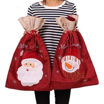 Christmas Gift Bag Large Capacity Kids Present Children Storage Decoration - £14.86 GBP