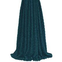 Uni tricot côtelé Sarcelle COUVERTURE 140cm x 180cm - $79.63