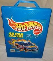 Vtg Mattel Tara Hot Wheels Racing Car Carry Case Blue Plastic Carrying N... - $17.58