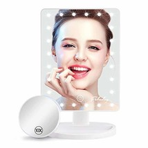 Makeup Mirror with Lights, Lighted Makeup Mirror with Detachable 10X Mag... - $24.40