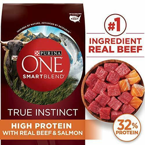 Primary image for Premium Purina ONE SmartBlend True Instinct Natural Adult Dry Dog Food & 3.8...