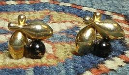 Vintage 1950s American Ten Pin Bowling Ball & Pins Big Lebowski Cufflink... - $10.77