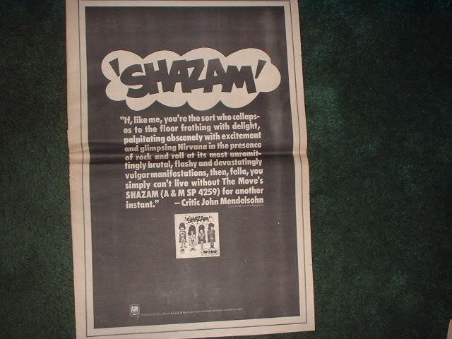 * 1970 SHAZAM POSTER TYPE PROMO AD