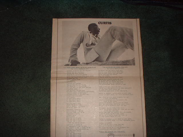 * 1970 CURTIS MAYFIELD POSTER TYPE PROMO AD
