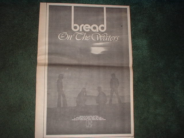 * 1970 BREAD ON THE WATERS POSTER TYPE PROMO AD