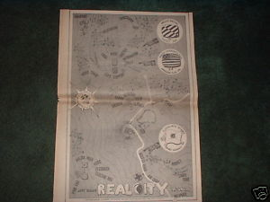 * 1970 PINK FOG ANT FARM REAL CITY POSTER TYPE PROMO AD