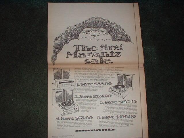 * 1970 MARANTZ MODEL 22 26 27 RECEIVER POSTER TYPE AD