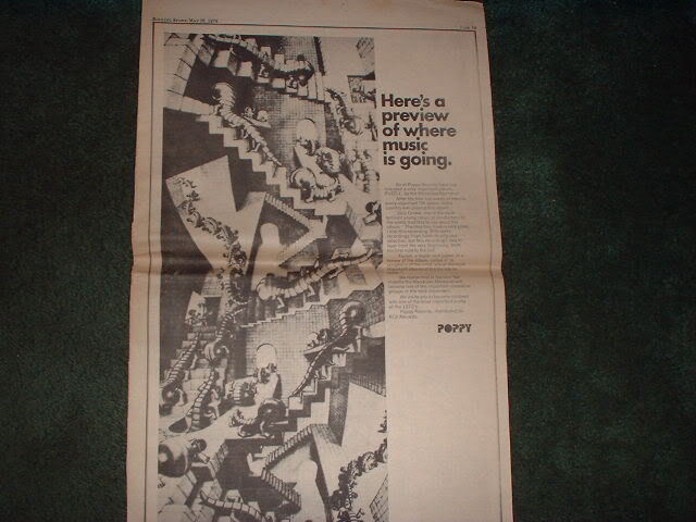 * 1970 MANDRAKE MEMORIAL OZAWA POSTER TYPE AD