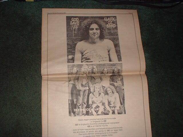 * 1971 ELASTIC OZ BAND POSTER TYPE PROMO AD