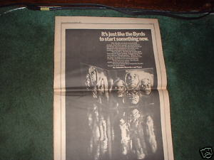 * 1971 THE BYRDS BYRDMANIAX POSTER TYPE PROMO AD