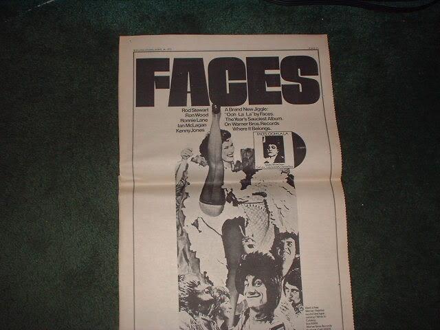 * 1973 FACES OOH LA LA POSTER TYPE PROMO AD