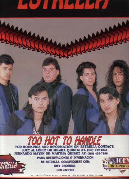 * 1991 ESTRELLA POSTER TYPE PROMO AD