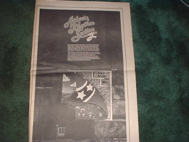 * 1973 ATLANTA RHYTHM SECTION POSTER TYPE PROMO AD