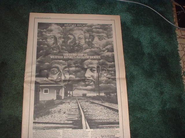 * 1973 WEATHER REPORT POSTER TYPE PROMO AD