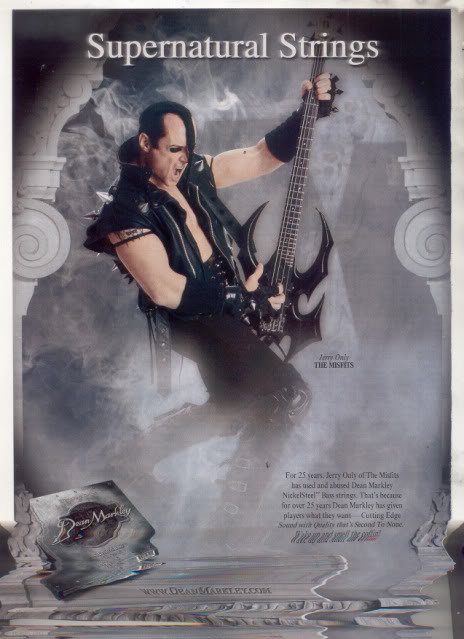 * JERRY ONLY THE MISFITS DEAN MARKLEY GUITAR STRINGS AD