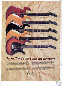 PARKER FLY GUITAR AD 1998