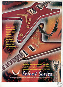 DEAN SELECT SERIES GUITAR AD 1998