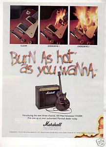 MARSHALL VALVESTATE VS100R AMPLIFIER AD 1996