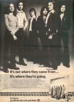 FOREIGNER 1ST RELEASE COLD AS ICE PROMO AD 1977