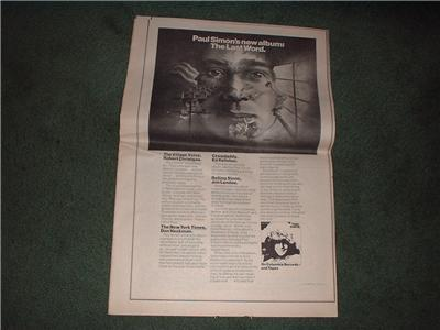1972 PAUL SIMON THE LAST WORD POSTER TYPE AD