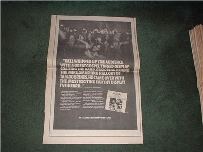 1972 BELL + ARC POSTER TYPE AD