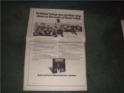 1972 TAJ MAHAL POSTER TYPE AD