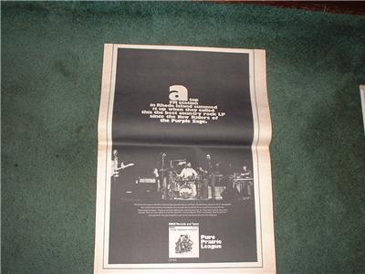 1972 PURE PRAIRIE LEAGUE POSTER TYPE AD