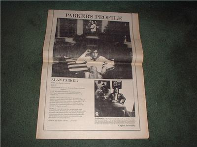 1972 ALAN PARKER POSTER TYPE AD